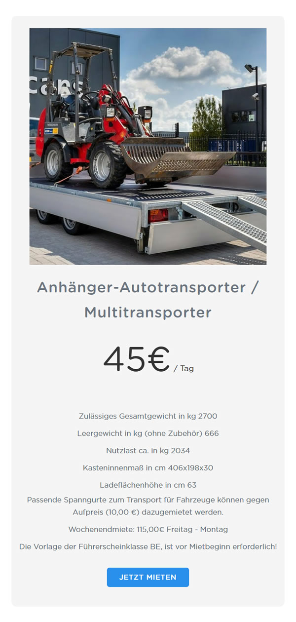 Anhaenger Autotransporter Multitransporter